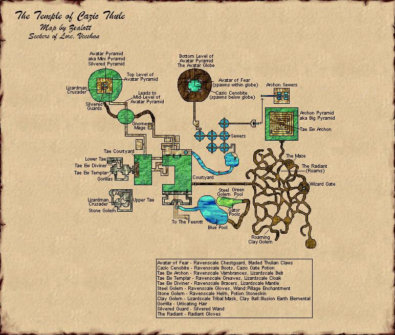 EQ Accursed/Lost Temple of Cazic-Thule maps