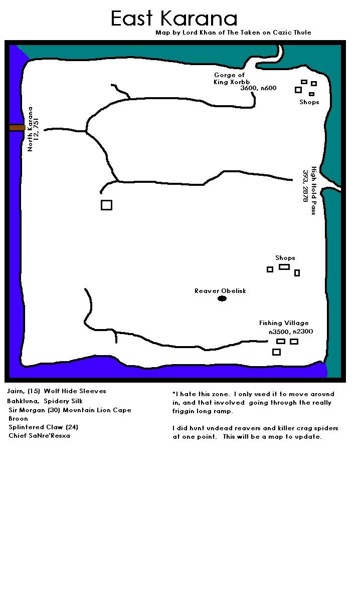 EQ East Karana maps