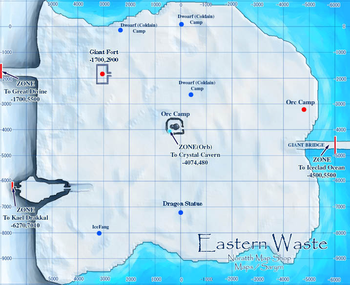 Wastes eastwastes maps click for details types of hissing wastes map