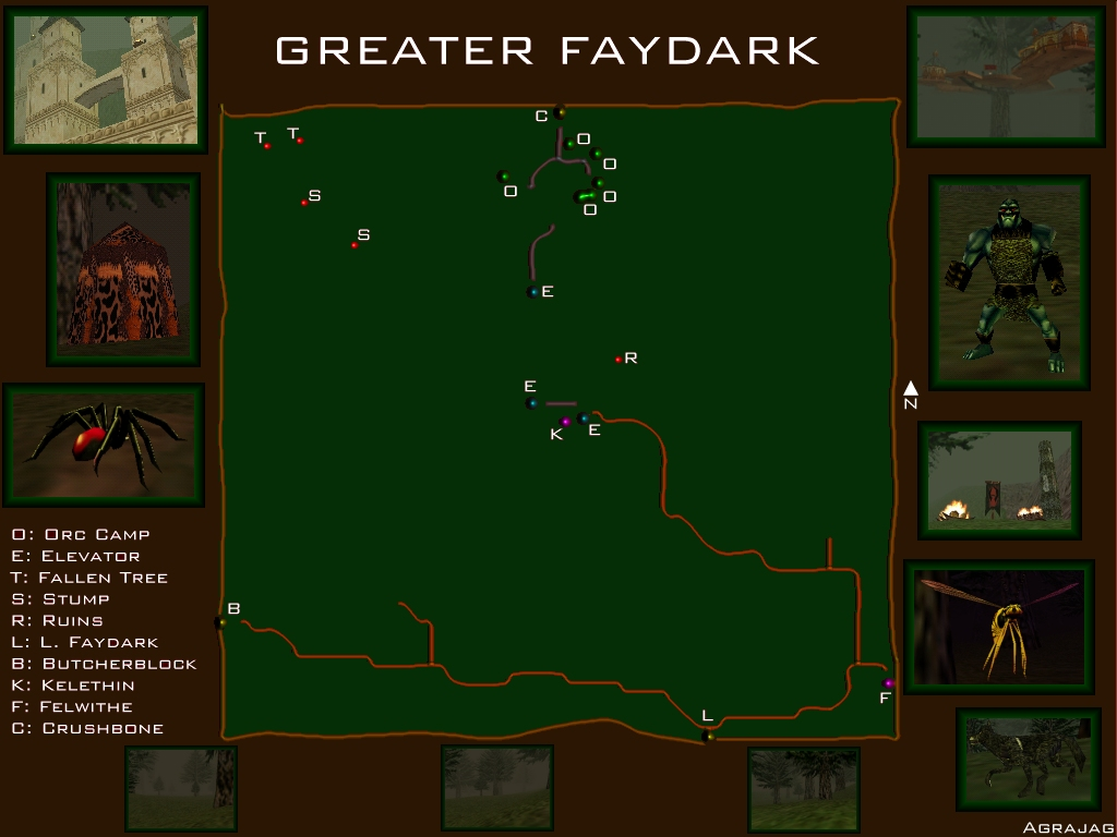 EQ Greater Faydark (with Kelethin) maps