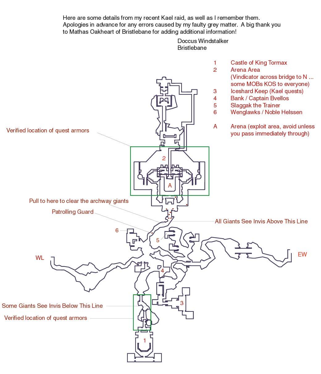 EQ Kael Drakkel maps