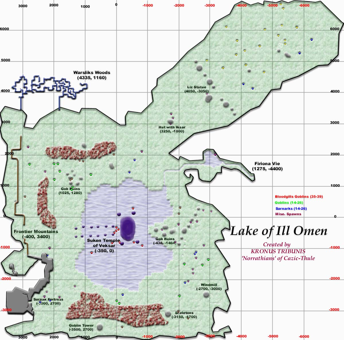 EQ Lake Of Ill Omen Maps - Ill map