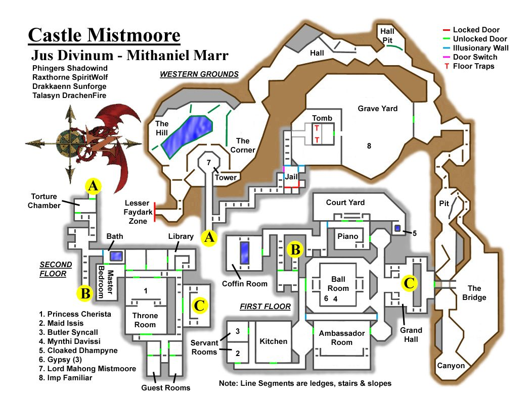 EQ Castle Mistmoore maps